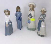4 Nao girls - girl with bonnet; girl with puppy (a.f.); girl with hair & another girl