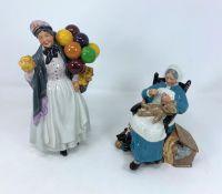 "2 Royal Doulton figures - ""Biddy Penny Farthing"" HN1843; ""Nanny"" HN2221"