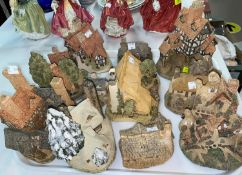 A collection of David Winter miniature cottages etc