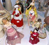 5 Royal Doulton figures - Pretty ladies - Autumn HN5323; Summer HN5322; Alexnadra HN3285 (2nd);