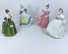 4 Royal Doulton figures - Summertime HN3137; Jessica HN3169; Camellia HN2222; Fleur HN2368