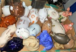 Two Wade NatWest pig money boxes; other pig money boxes