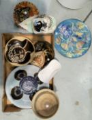 A selection of art and studio pottery