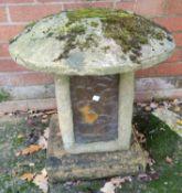 A garden mushroom in reconstituted stone