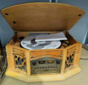 """A """"Phonograph"""" reproduction radio/cassette/CD player"""