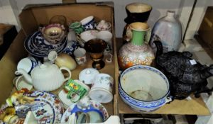 A large toby jug; a selection of decorative china