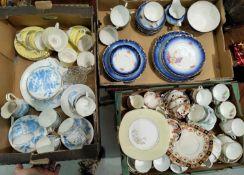 A selection of bone china tea sets
