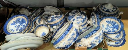 A selection of Booths 'Old Willow' dinnerware with 5 tureens