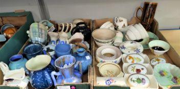 A Poole hors d'oeuvres dish; similar pieces; a quantity of Art Deco ceramics