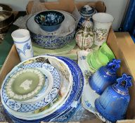 A selection of collectors decorative plates; bowls; Wade Whimsies; other china and glassware;