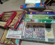 A selection of jigsaws - no guarantee to be complete