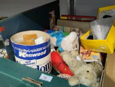 A selection of vintage childrens' toys, games & books including dolls house furniture, 2 Harry