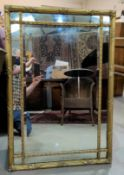 rectangular wall mirror in gilt frame