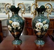 A pair of Victorian style decorative vases