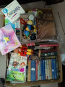 A selection of children's games; toys; books; collectors /cigarette cards
