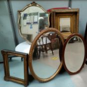 A selection of wall mirrors