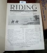Two bound volumes of Riding magazine 1938-39