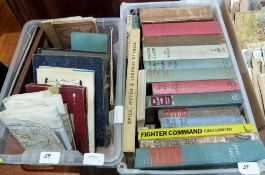 A box of books and a box of maps and ephemera