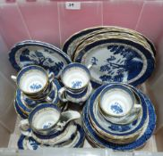A box of Booths Real Old Willow tea and dinnerware