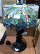 A Tiffany style table lamp