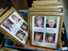 Popular Culture. Coronation Street. A collection of signed photographs by members of the cast