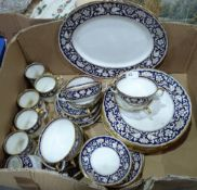 A Crown Staffordshire part dinner and tea service
