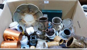 A box of ceramics