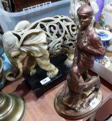 Two 'Austin' resinous sculptures