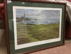 A LOT OF THREE GOLFING PRINTS