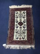 A LOT OF TWO PERSIAN PRAYER RUGS