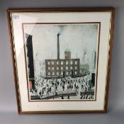 FACTORY SCENE, PRINT AFTER L.S. LOWRY