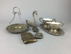A LOT OF SILVER AND PLATED WARES AND OTHER ITEMS