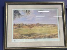 A SET OF FOUR GOLFING PRINTS AFTER MARK CHADWICK