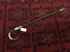 AN EARLY 20TH CENTURY SHOOTING STICK