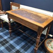 A 19TH CENTURY MAHOGANY WRITING TABLE ALONG WITH A SINGLE CHAIR
