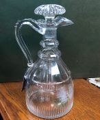 AN EARLY 19TH CENTURY CLARET JUG
