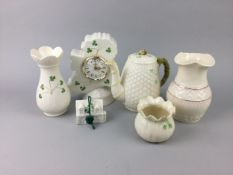 A LOT OF IRISH PORCELAIN ALONG WITH EDWARD VII COMMEMORATIVE WARE