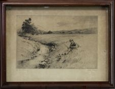 TWO ETCHINGS BY HENRY JACKSON SIMPSON