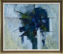 AN ABSTRACT OIL BY FREIDA EWART SCOTT