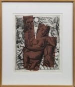 ABANDONED LOVERS, AN ETCHING BY EDORI FERTIG