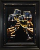 RED, WHITE AND ROSE, A GICLEE PRINT BY FABIAN PEREZ