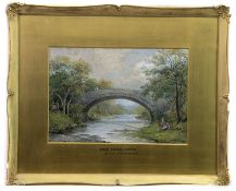 ANNAN BRIDGE, MOFFAT, A MIXED MEDIA BY CHARLES WOOLNOTH