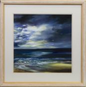 SEASCAPE, AN OIL BY LILLIAS BLACKIE