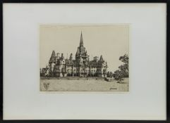 FETTES COLLEGE, AN ETCHING BY WILFRED APPLEBY
