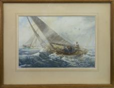 RACING ON THE CLYDE, 1930, A WATERCOLOUR BY ROBERT CRAIG WALLACE