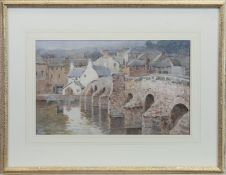 DEVORGILLA BRIDGE, DUMFRIES, A SCOTTISH SCHOOL WATERCOLOUR