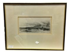 ARRAN AND PERTH BRIDGE, A PAIR OF ETCHINGS BY D Y CAMERON