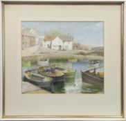 CRAIL HARBOUR, A WATERCOLOUR BY ROBERT KILPATRICK