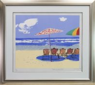 WISH YOU WERE HERE, A SILKSCREEN PRINT BY RUSKIN SPEAR