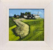 TUSCAN FARM LAND, AN ACRYLIC BY PETER NARDINI